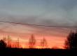 Zachód słońca widoczny z tarasu domu