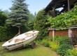 Ogród w Woszczelach - łódka do dyspozycji gości